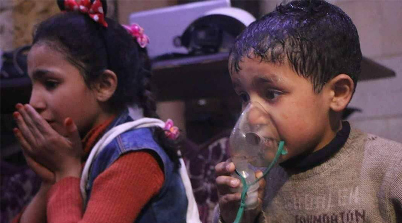 Syria war: At least 70 killed in suspected chemical attack in Douma