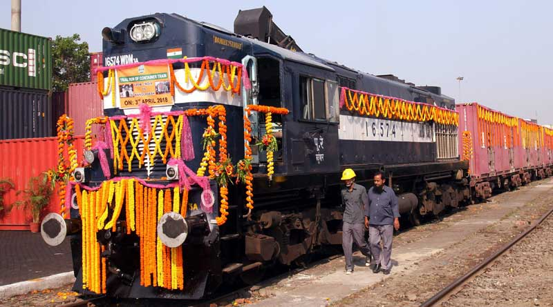 Indo-Bangladesh commerical rail service started