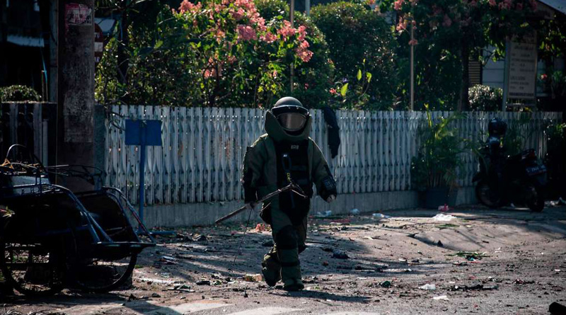 Bombings at three churches killed at least six people in Surabaya, Indonesia