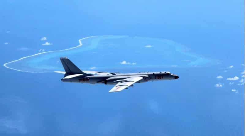 Message to US! China lands bomber jet on South China island