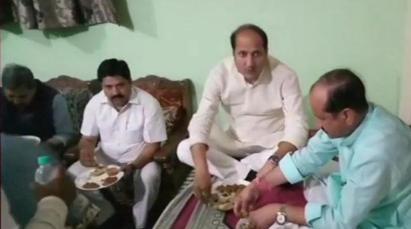 Food ordered from outside for UP minister's dinner in Dalit home