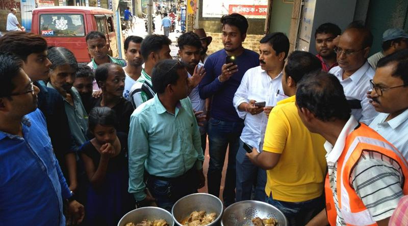 Bongaon Municipality runs the search operation in search of rotten meat