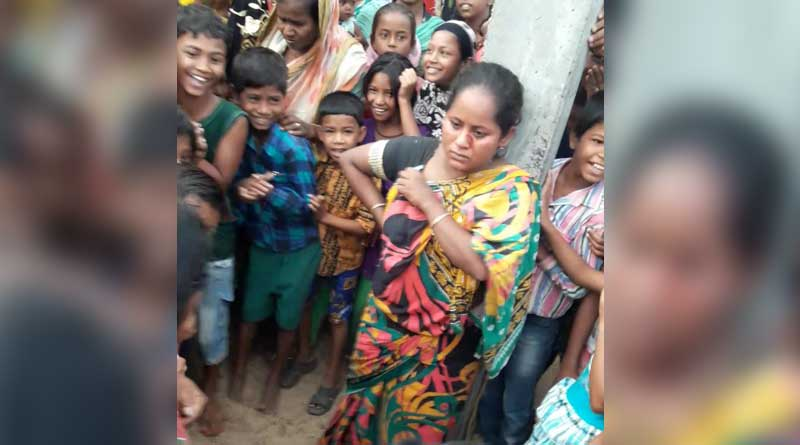 Birbhum: woman caught red handedly, while trying to steal a baby