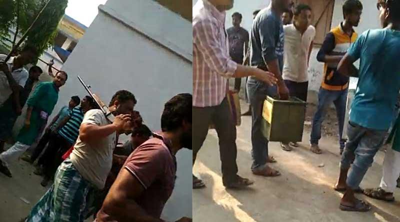 WB panchayat polls 2018:  Armed goons snatch ballot box in Ratua
