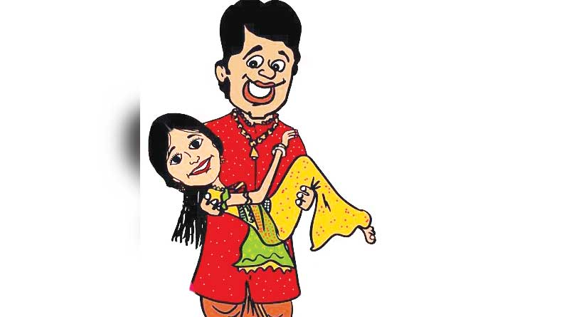 WB panchayetPoll: a govt employee appears before Officials with his would be bride for leave
