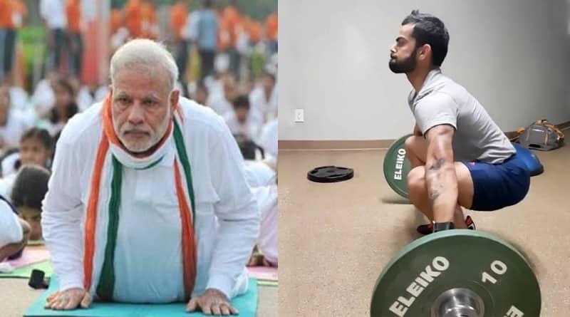 Narendra Modi accepts Kohlis fitness challenge