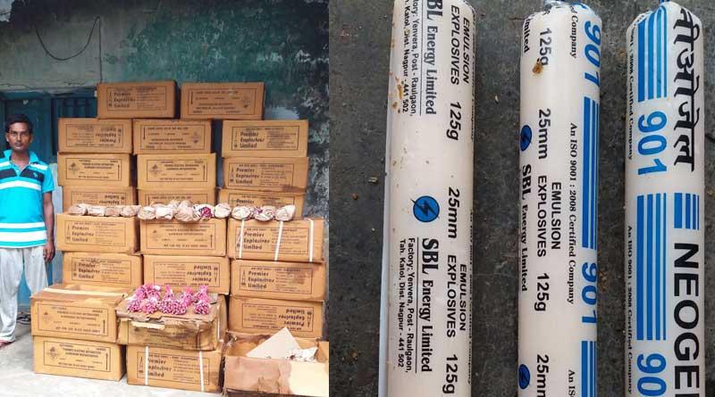 Huge explosive recovered in Nalhai, 1 arrested