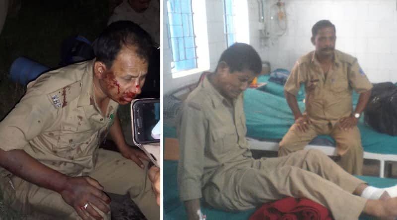 Police van on panchayat poll duty suffers accident in Chopra