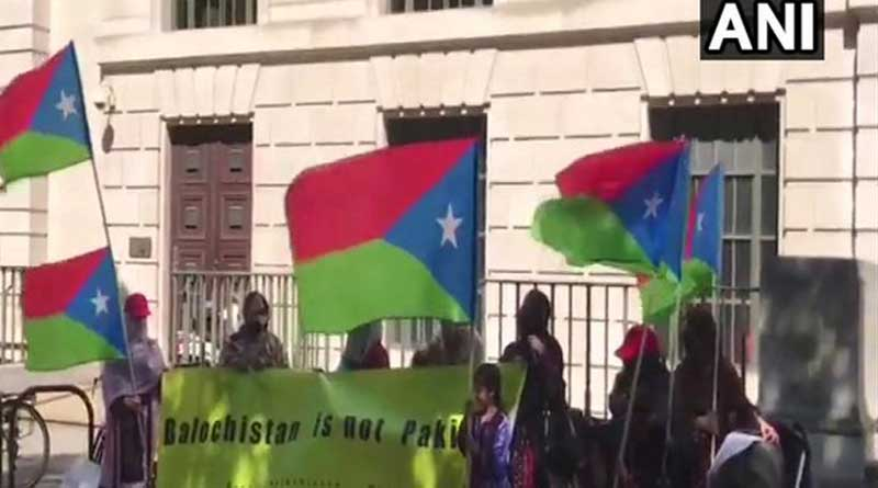 The Free Balochistan Movement activists held a protest in front of Chinese Embassy