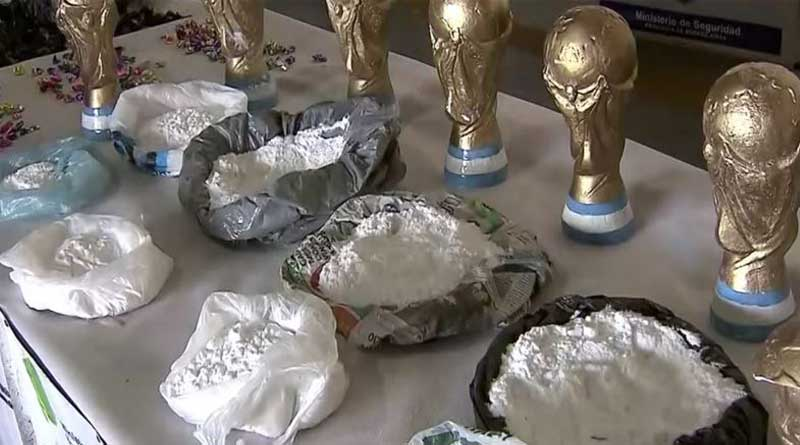 Cocaine Seized in World Cup Trophy Replicas in Argentina