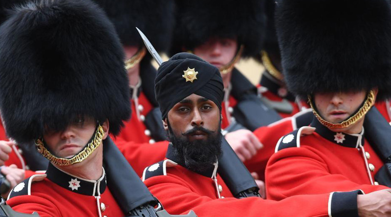 Sikh soldier becomes first to wear turban in annual Trooping