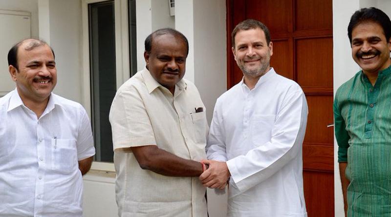 Kumaraswamy meets Rahul Gandhi to patch JDS-Congress fissure