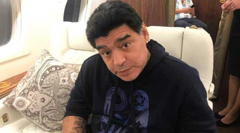 Diego Maradona was admitted to hospital Monday for medical checks  Sangbad Pratidin