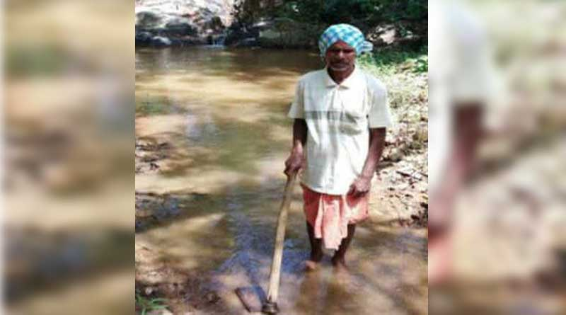 70 year old Nayak carves canal to bring water