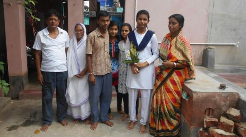 Sujata Shil score highest marks in Madhyamuik exam in Bhatar Block