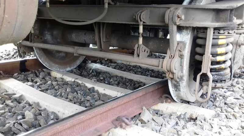 Local train derailed near Raina