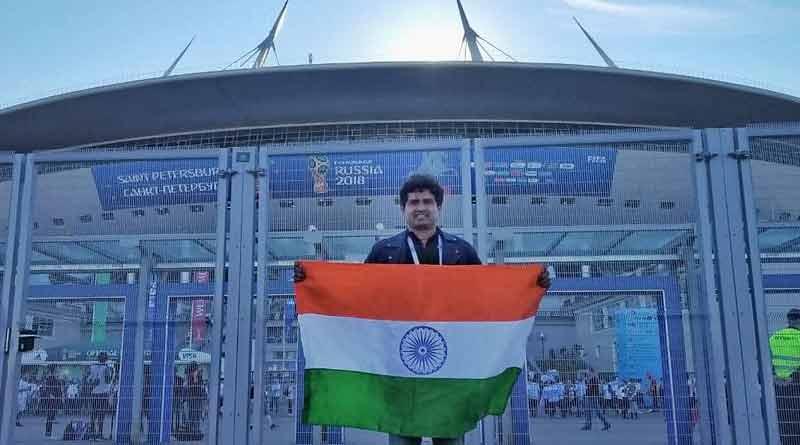 Indian footballer Dipendu Biswas wins 400 ruble in Russia street football