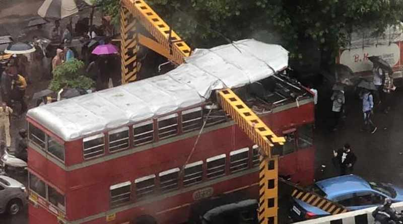 Mumbai: Double-decker bus roof ripped off during mishap