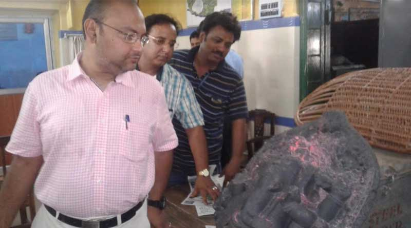 Antic Ganesh sculpture recovered from Burdwan University campass