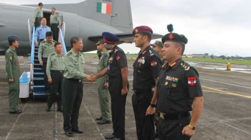chinese military delegation entered Sukna's army base