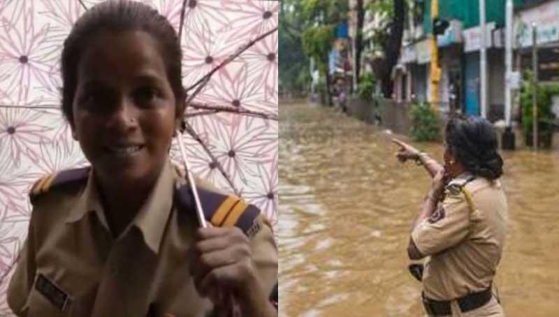 Lady constable turns savior in drowned Mumbai