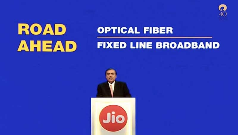 Reliance AGM: Launch of JioFiber broadband expected