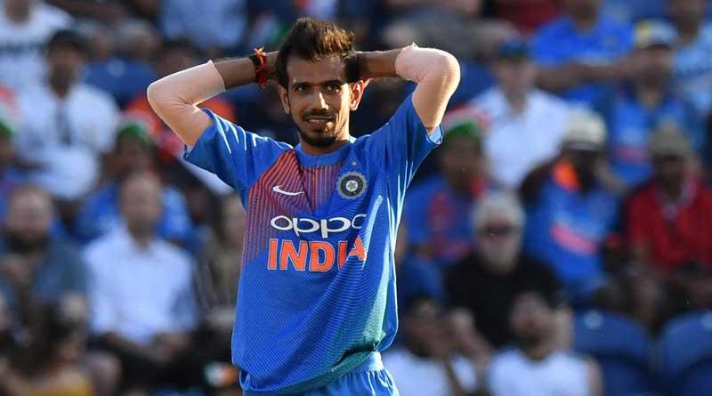 England vs India: Yuzvendra Chahal raises his bat after hitting first ODI boundary