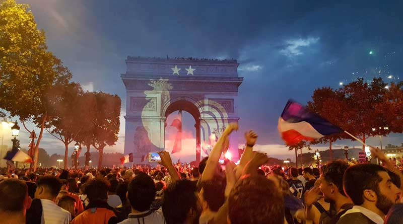 Fans celebrate France victory in Football World Cup