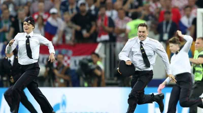 Anti-Kremlin group storm football world cup final