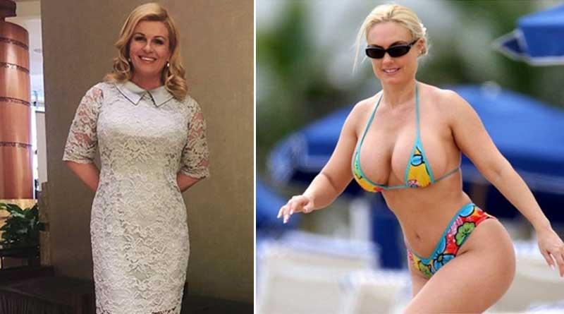 Croatian president in bikini creates storm on internet!