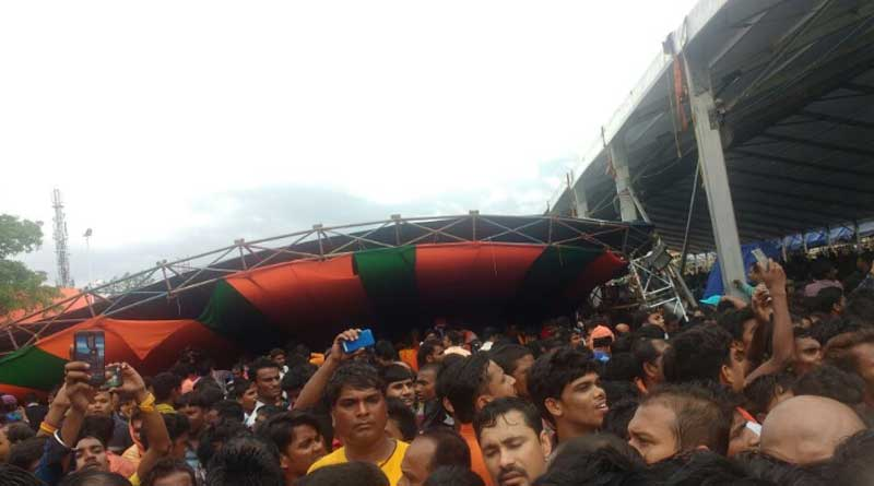 Stage collapses during PM Modi's event in Midnapore