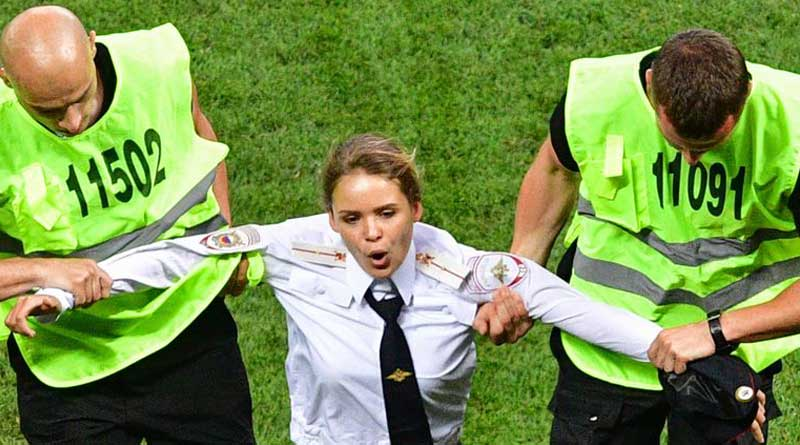 World Cup final: Pussy Riot intruders jailed for 15 days