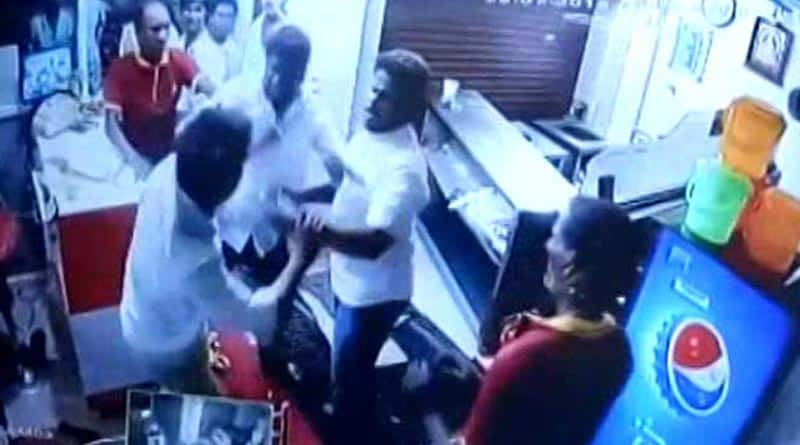 DMK leaders beat up restaurant staff