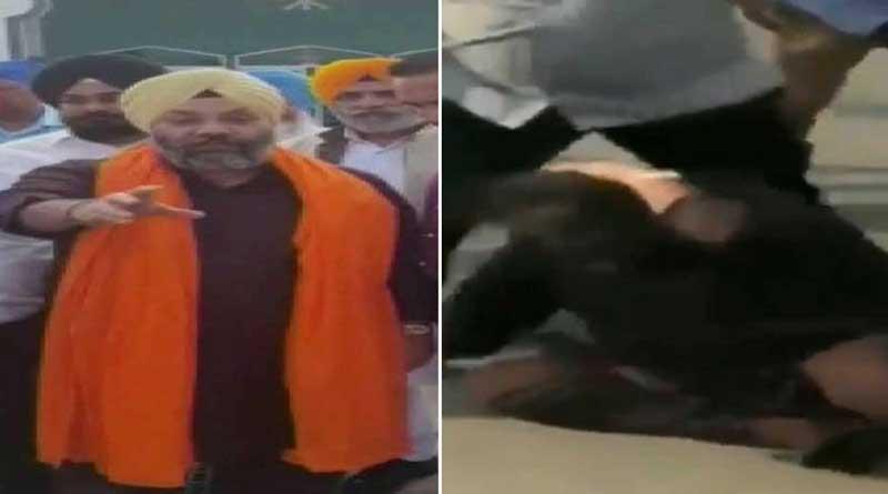 Akali Dal leader Manjeet Singh GK attacked outside a Gurdwara in California in the USA