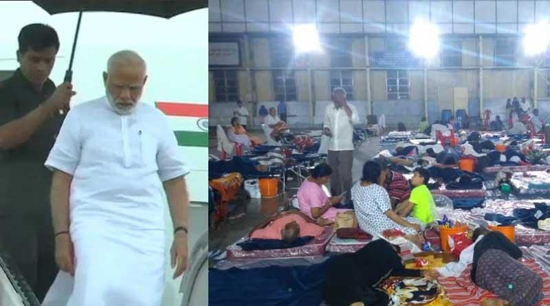 PM Modi visits Kerala to watch flood situation