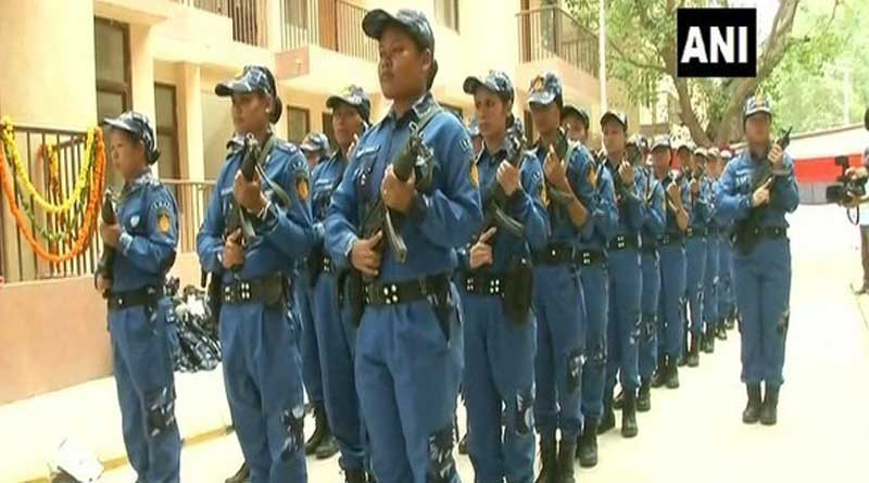 India's first all-woman Special Weapons and Tactics (SWAT) team for anti terrorist operations.