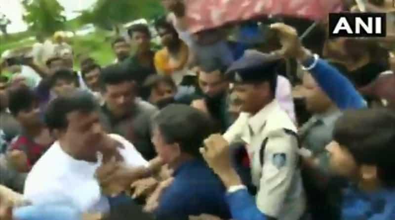 MP Congress MLA beats BJP workers, video viral