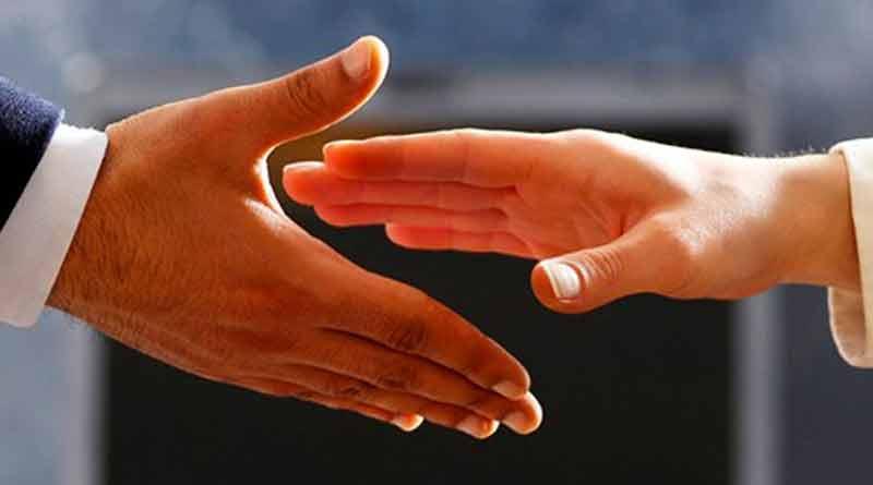 Muslim teacher refuse shake hands with a woman