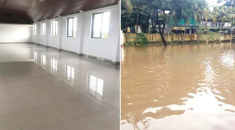 Victims clean flood shelter in Kerala, say thanks