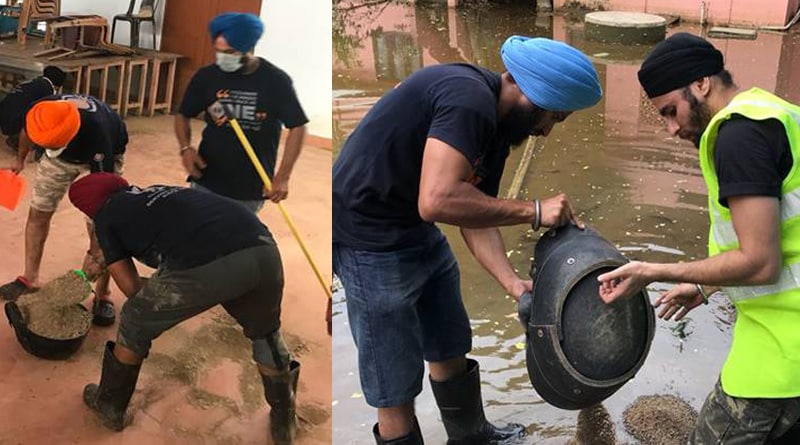Sikh volunteers clean up Kerala church for prayer