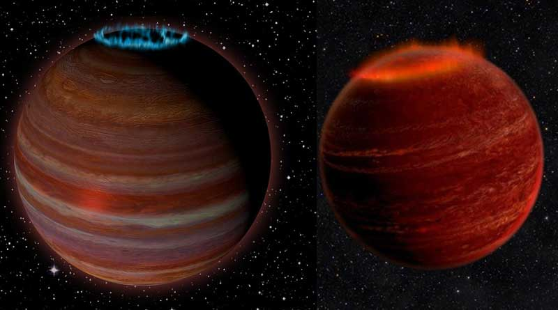 planet crowned with a glowing aurora found wandering the galaxy, spotted using radio signals