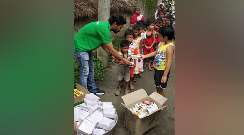 Sunderbans 'Robinhood Bahini' celebrates Independence Day with street children