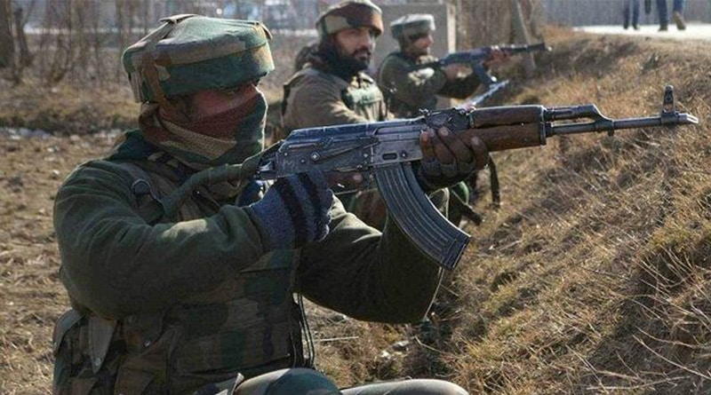 Two terrorists killed, Army major martyred in Kashmir