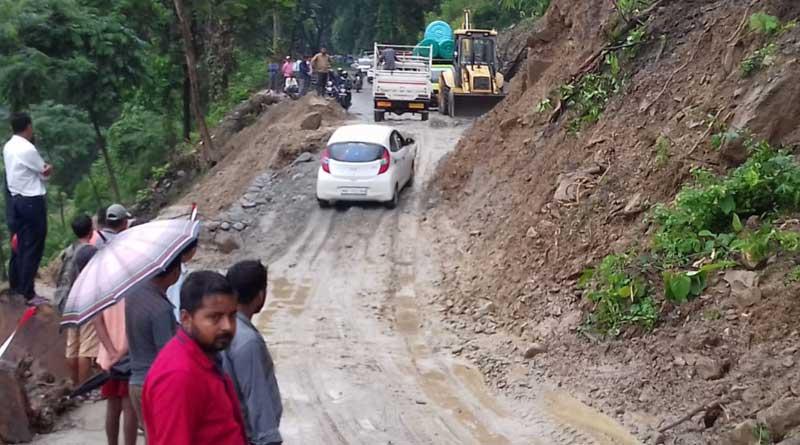 Sebak Road reopens, locals fear another landslide