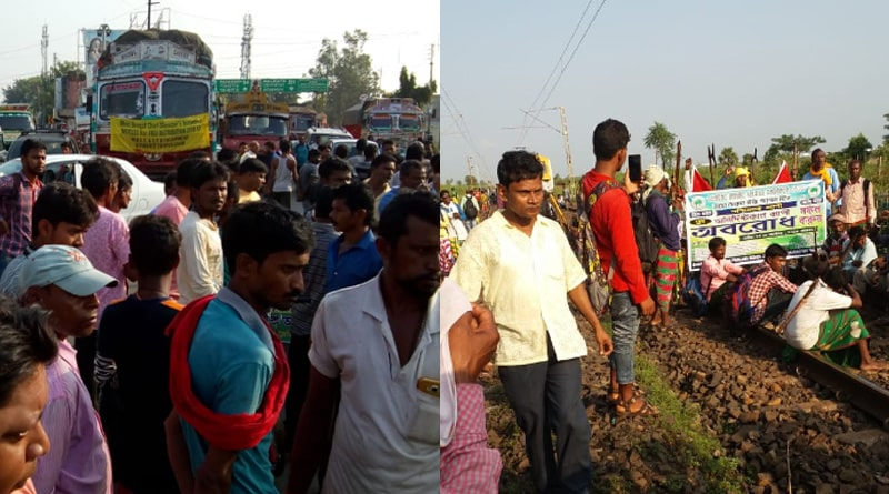 Rail services in JungalMahal dirupted-due-to-protest-of-tribals