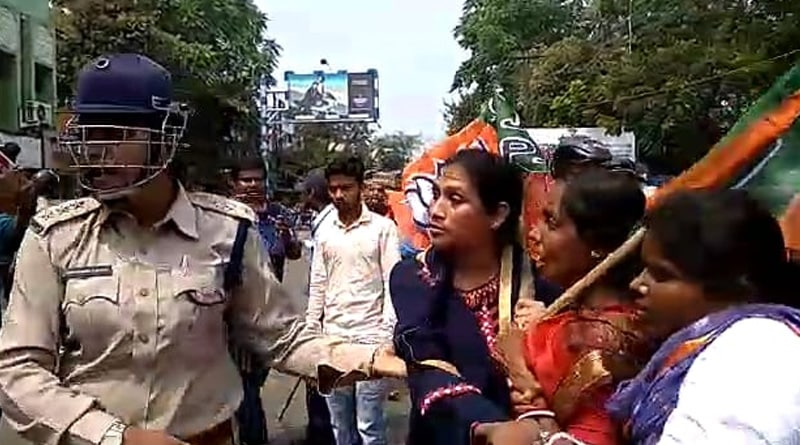 BJP supporters allegedly attacked police during bandh
