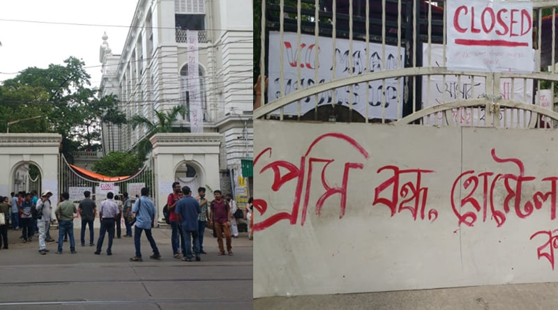 Students stage protest at Presidency University