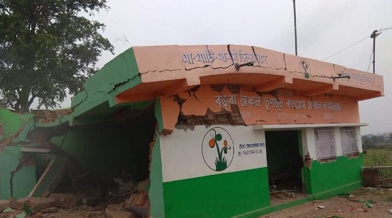 Bibhum: Blusts at TMC party office in Khoyrashol, no casualty