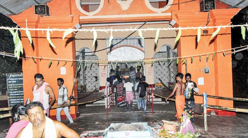 this durga puja has and interesting tradition