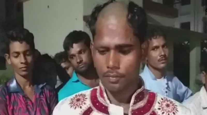 Groom's head tonsured because he refused to marry without dowry